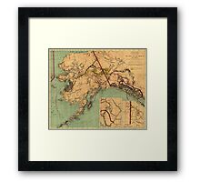 Vintage Map of Gold and Coal in Alaska (1898) Framed Print