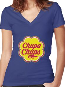 chupa-chups Women's Fitted V-Neck T-Shirt