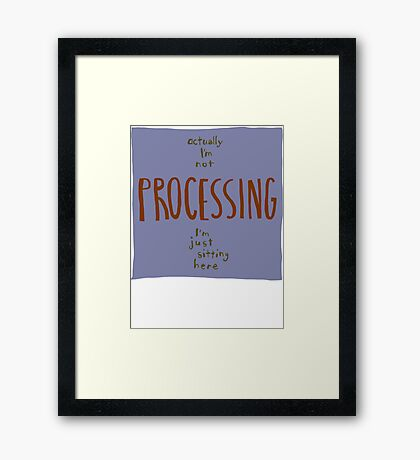 not processing Framed Print