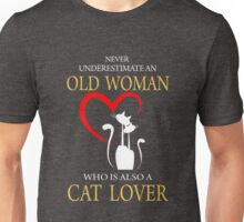 Cat Lover Old Woman - Cat Shirts Unisex T-Shirt