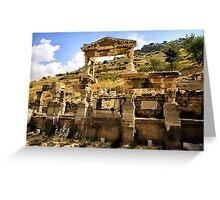 The Fountain Of Trajan Ephesus Turkey Greeting Card