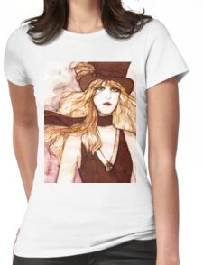 STEVIE NICKS SKETCH Womens Fitted T-Shirt