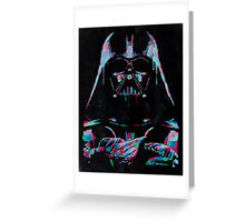 Neon Vader Greeting Card