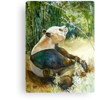 Stop and smell the Flowers id1270236 panda bear Canvas Print