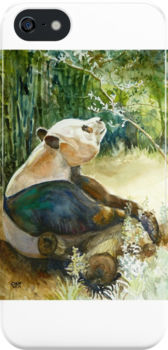 Stop and smell the Flowers id1270236 panda bear by Almondtree