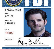 Brian Zeller FBI Badge Merch by hannibalplease