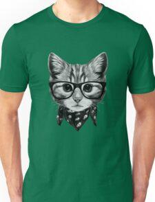 ETOSELL Retro Lady CrewNeck Short Sleeve T-Shirt Cute Cat Print Loose Tops Unisex T-Shirt