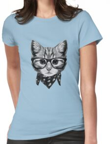 ETOSELL Retro Lady CrewNeck Short Sleeve T-Shirt Cute Cat Print Loose Tops Womens Fitted T-Shirt
