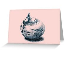 Ancient Greek Pottery Drawing Greeting Card