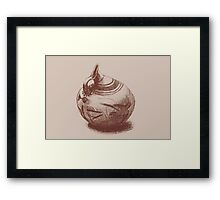 Ancient Greek Pottery Drawing Framed Print