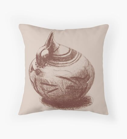 Ancient Greek Pottery Drawing Throw Pillow