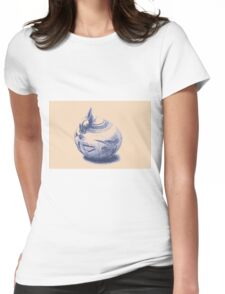 Ancient Greek Pottery Drawing Womens Fitted T-Shirt