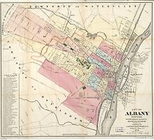 Vintage Map of Albany NY (1874) by BravuraMedia