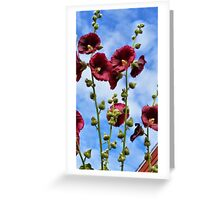 Sky full of Red Flowers Greeting Card