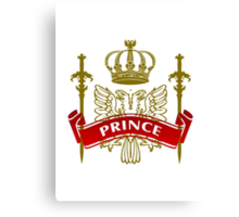 Fit For A Prince Coat-of-Arms Canvas Print