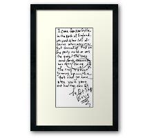 Being Boring - Pet Shop Boys Framed Print