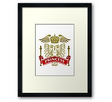 Fit For A Princess Coat-of-Arms Framed Print