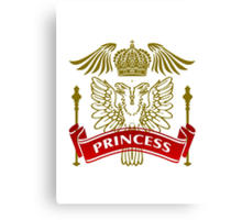 Fit For A Princess Coat-of-Arms Canvas Print