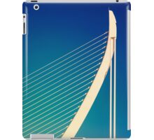 White Abstract Bridge Structure On Blue Sky iPad Case/Skin
