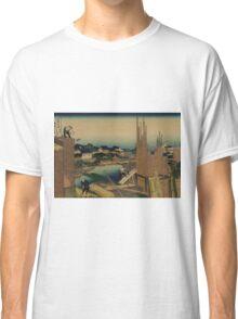 Honjo tatekawa - Hokusai Katsushika - 1890 Classic T-Shirt