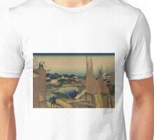 Honjo tatekawa - Hokusai Katsushika - 1890 Unisex T-Shirt
