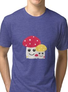 Cute colorful mushrooms Tri-blend T-Shirt