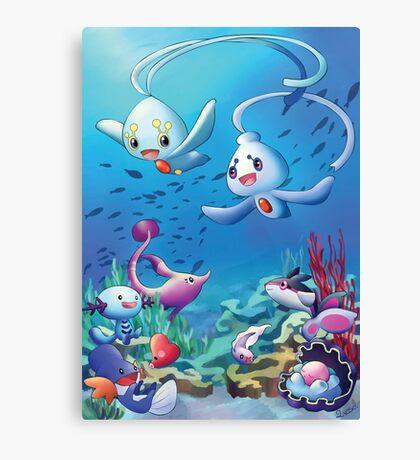 Pokemon underwater Canvas Print