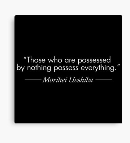 Possessed by Nothing (White) Canvas Print