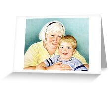 Portrait  of Sandra and Will Greeting Card