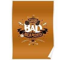 THE GOOD THE BAD ANS THE BEARDED full orange Poster