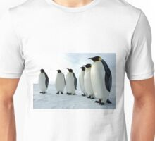 Lined up Emperor Penguins Unisex T-Shirt