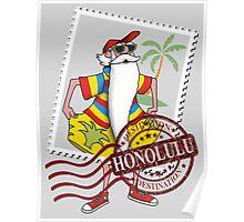 Honolulu Destination Poster