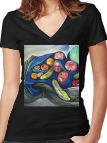 Fruity Women's Fitted V-Neck T-Shirt