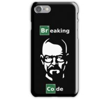 Breaking Code - White/Green on Black Parody Design for Programmers iPhone Case/Skin