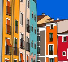 Casas de Colores.  Sticker