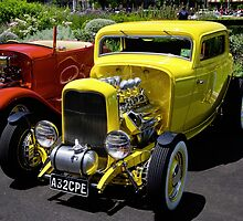 Yellow `32 Coupe by Norman Repacholi
