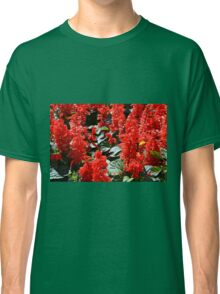 Red flowers pattern Classic T-Shirt