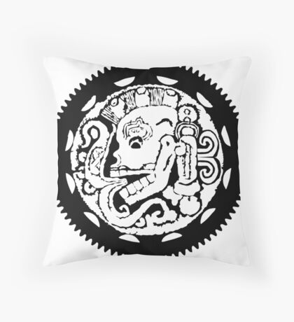 Wapsi Square Gear Skull Throw Pillow