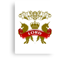 Fit For A Lord Coat-of-Arms Canvas Print
