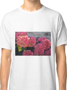 Pink flowers natural background Classic T-Shirt