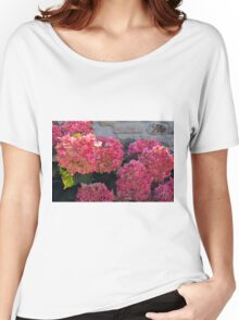 Pink flowers natural background Women's Relaxed Fit T-Shirt