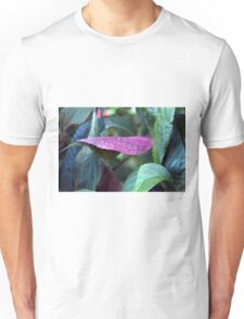 Green and purple leaves Unisex T-Shirt