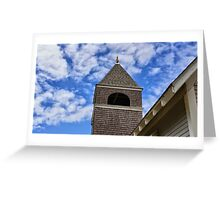 Blue Sky Steeple Greeting Card