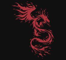 Flying Fire Dragon Design Kids Tee