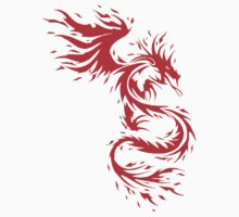 Flying Fire Dragon Design Kids Clothes