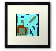 Ron Love (c) (Anchorman) Framed Print
