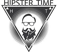 Hipster label Photographic Print