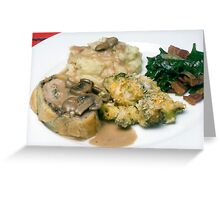 Pork Tenderloin in Puff Pastry w/ Assorted Vegetables Greeting Card