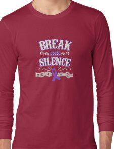 Domestic Violence Awareness Shirt - Domestic Violence Ribbon Long Sleeve T-Shirt