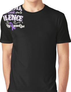 Domestic Violence Awareness Shirt - Domestic Violence Ribbon Graphic T-Shirt